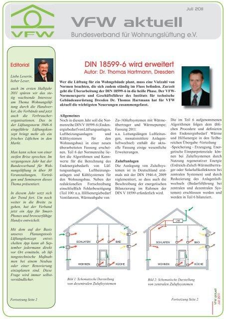 VfW-Aktuell Wohnungslüftung - Fachzeitschrift ... - ENEV-Online.de