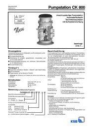 Pumpstation CK 800 - KSB