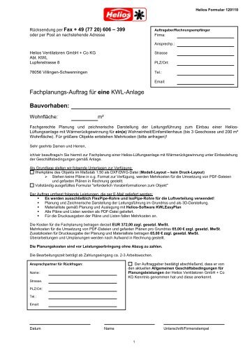 Erdwärmetauscher EWT-Bausatz EWT - Helios KWL easyPlan