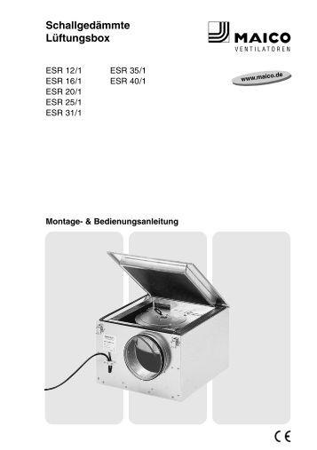 kfr kfd schallged mmte flachbox f r zuluft maico. Black Bedroom Furniture Sets. Home Design Ideas