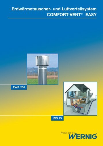 Erdwärmetauscher- und Luftverteilsystem COMFORT-VENT® EASY