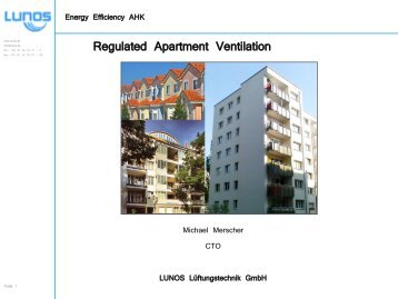 Regulated Apartment Ventilation
