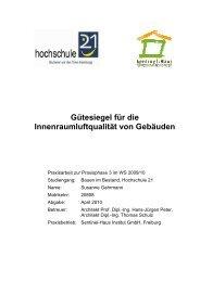 Vergleich von Gütesiegeln für Innenraumluftqualität - Sentinel Haus ...