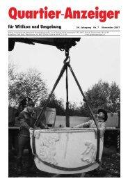Ausgabe 7, November 2007 - Quartier-Anzeiger Archiv - Quartier ...