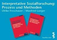 Interpretative Sozialforschung: Prozess und Methoden