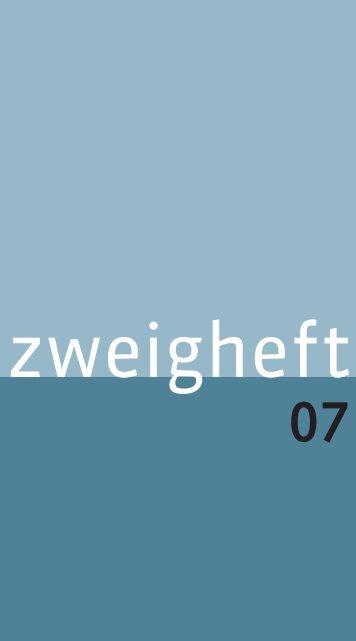 RZ Zweigheft 7:Inhalt Zweigheft 1 - Stefan Zweig Centre Salzburg