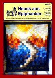 September bis November 2011 - Epiphanien