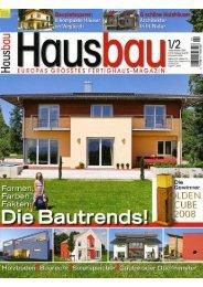 Hausbau 01-02/2008 - Fertighaus Weiss GmbH
