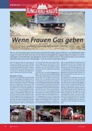 Wenn Frauen Gas geben - Internationale Jungfrau-Rallye