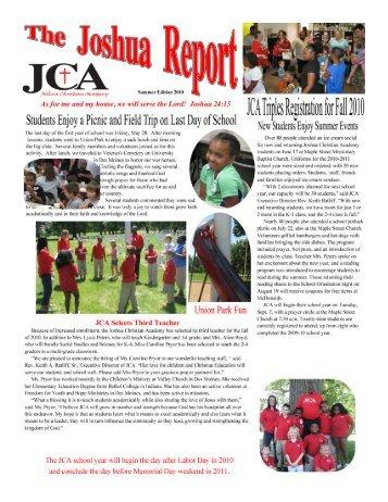 Fall 2010 Newsletter - gotjosh.org