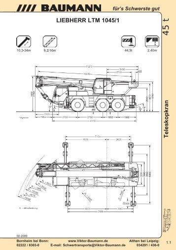 LIEBHERR LTM 1045/1 - Baumann