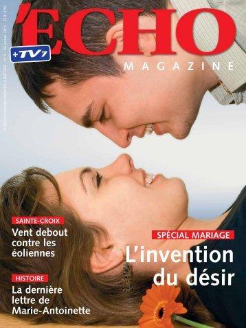 Echo Magazine - Forum Couple et Famille