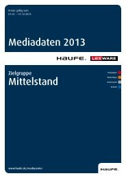 Mediadaten Mittelstand 2013 [PDF, 1,8 MB] - Mediadaten Haufe ...