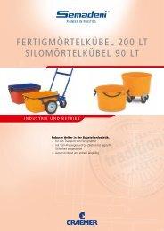 fertigmörtelküBel 200 lt silomörtelküBel 90 lt - Semadeni AG