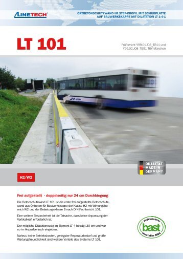 LT 101 - Ortbetonschutzwand im Step-Profil mit ... - Raab Karcher
