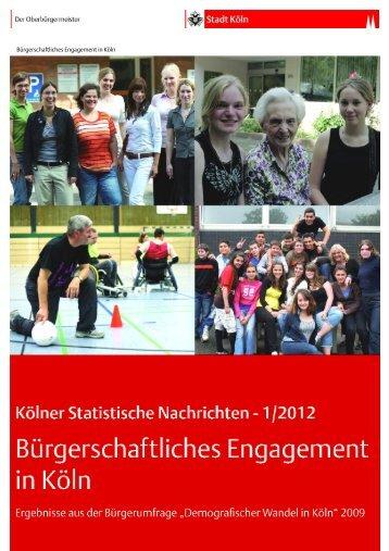Kölner Statistische Nachrichten 1/2012 ... - Stadt Köln