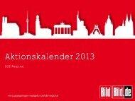 Gesamtübersicht Aktionskalender 2013 - Axel Springer MediaPilot