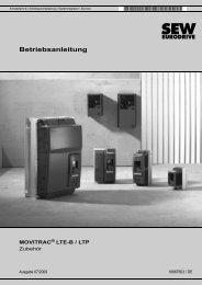 MOVITRAC® LTE-B / LTP Zubehör - SEW Eurodrive