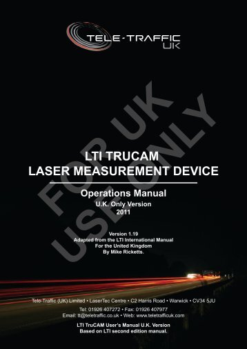 LTI TRUCAM LASER MEASUREMENT DEVICE - Tele-Traffic