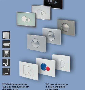 WC-Betätigungsplatten aus Glas und Kunststoff ... - Sidabrinis krioklys