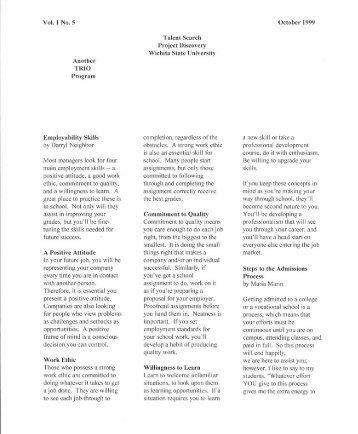 FALL 1999 Newsletter (PDF)
