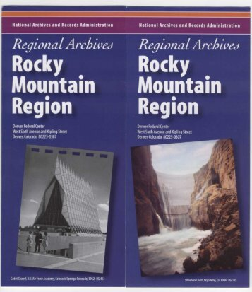 Rocky Mountain Region - National Archives and Records ...