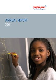 AnnuAl RepoRt 2011 - Hellmann Worldwide Logistics