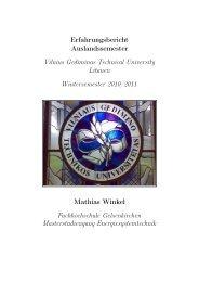 Vilnius Gediminas Technical University - Akademisches Auslandsamt