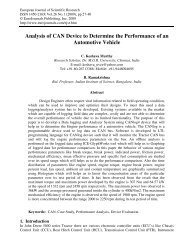 Analysis of CAN Device to Determine the Performance - EuroJournals