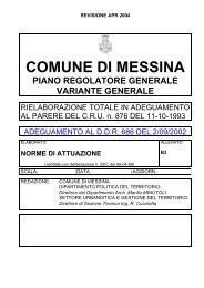 COMUNE DI MESSINA - Università degli Studi di Messina