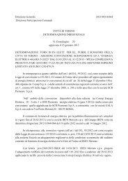 Direzione Generale 2013 00318/064 Direzione ... - Città di Torino