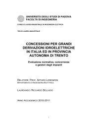 Concessioni per grandi derivazioni idroelettriche - Università degli ...