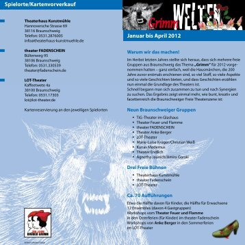 Januar bis April 2012 Spielorte/Kartenvorverkauf