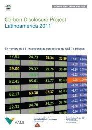 Carbon Disclosure Project Latinoamérica 2011