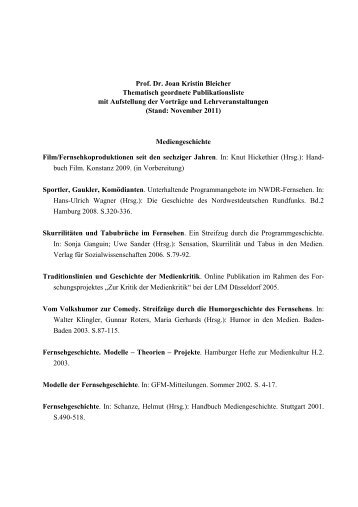Vollständige Publikationsliste - SLM - Universität Hamburg