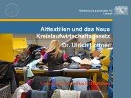 Alttextilien und das Inkrafttreten des neuen ... - Abfallratgeber Bayern