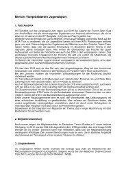 Bericht der Vizepräsidentin und Leiterin des Ressorts IV - Deutscher ...