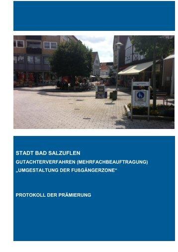 Protokoll Preisgericht - Bad Salzuflen