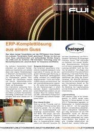 ERP-Komplettlösung aus einem Guss - FWI Information Technology