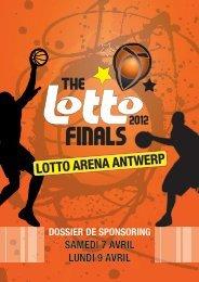 LOTTO ARENA ANTWERP - The Lotto Finals 2012