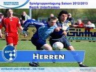 Präsentation der Spielgruppentagung Herren Sommer 2012/13