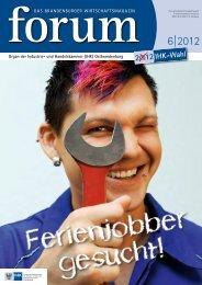 forum 6|2012 - Wirtschaftsmagazin Ostbrandenburg