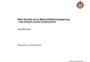 Steigerung der Materialeffizienz (PDF) Download - Quest Consulting