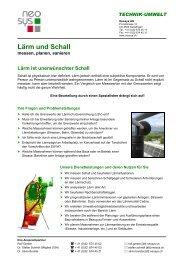 Lärm und Schall - Neosys AG