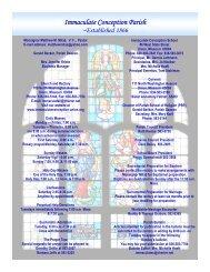 Immaculate Conception Parish - E-churchbulletins.com