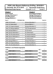 VGN Lotto Bayern-Hallencup Erl/Peg 2010/2011 - Sportgericht - BFV