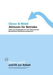 Clever & Mobil Aktionen für Betriebe Clever mobil ... - effizient mobil