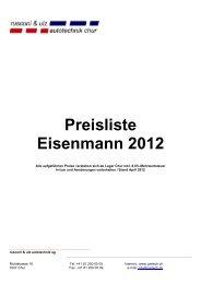 Preisliste Eisenmann 2012 - Cartech