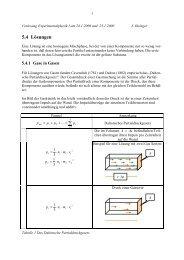 Lösungen, Osmose, kinetische Gastheorie, Verteilungen