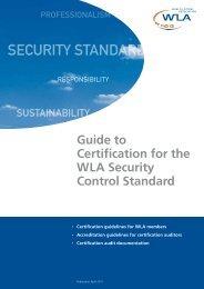 SECURITY STANDARD - World Lottery Association